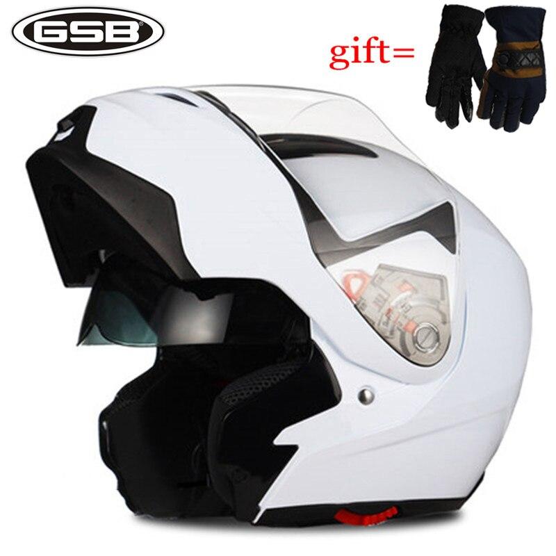 Nouveau Flip Up Casque de Moto Professionnel casque de course de Sécurité De La CEE Plein Visage/Moitié double visières Saleté casques de vélo Anti-brouillard g339