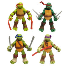 цены Cartoon Turtle 4pcs/set action figure Cartoon Turtle figures action Movable doll toy Kids Decoration toys