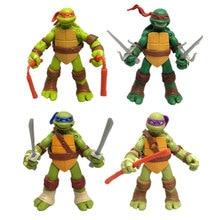 Cartoon Turtle 4pcs/set action figure figures Movable doll toy Kids Decoration toys