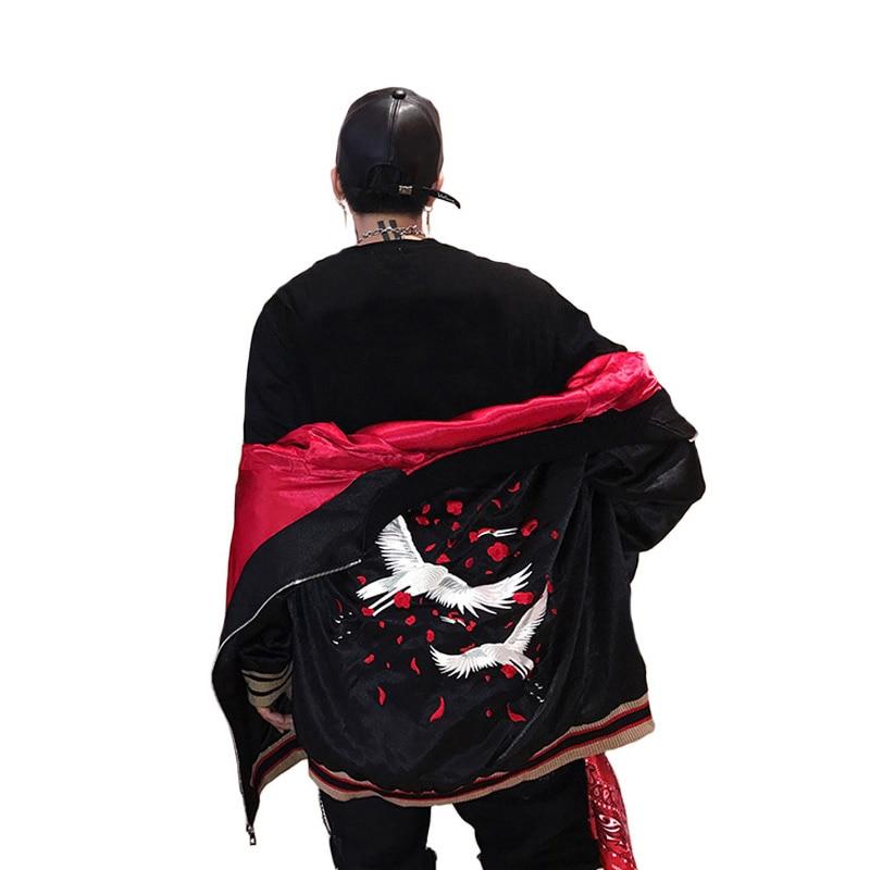 Japanese Style Luxury Embroidery Jacket Smooth Men Youth Sukajan Yokosuka Souvenir Spring Autumn Baseball Jacket Loose Coats