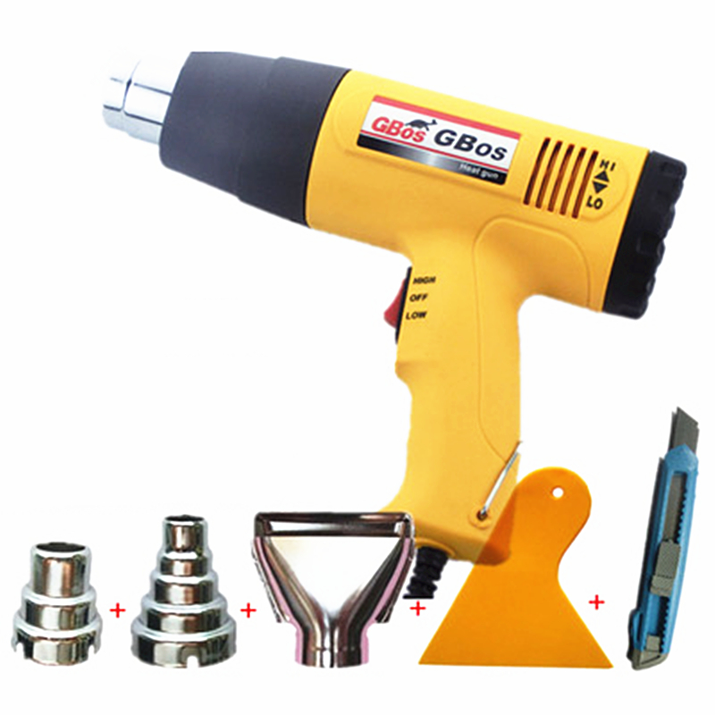 powerful 220/240V 2000W hot air gun industrial drying gun hot air blower heat gun temperature gun with 4 nozzle BOS-887 1 set ac 220v 1800w hot air heat gun paint stripper 60 600 degree temperature adjustable hot air paint drying striping blower