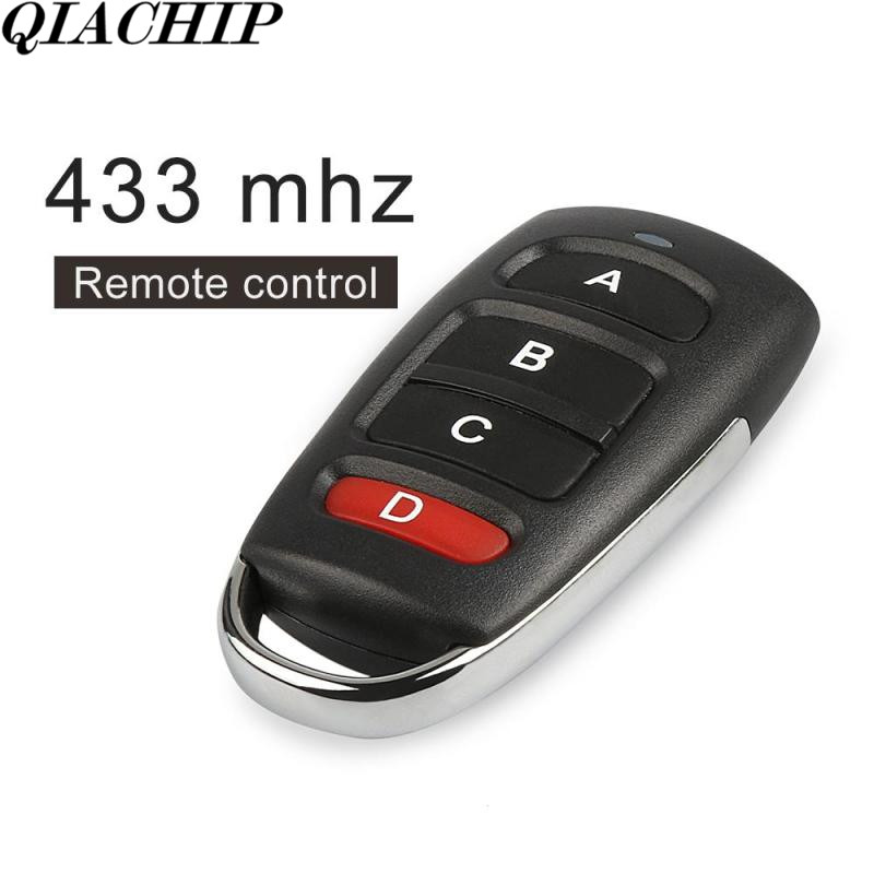 QIACHIP 10pcs/set  433mhz Remote Control Switch 4 Buttons Copy Cloning Electric Garage Door Security Alarm Key Fob Car Keys B
