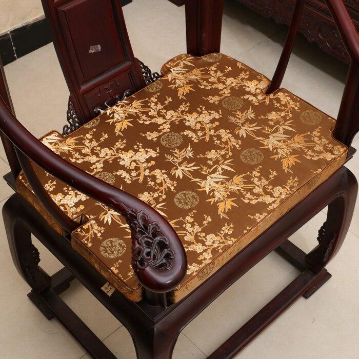 Thick Concave Chair Cushion Seat gap Pad Floral Chinese Silk Chair Cushions Home Decor Xmas Armchair Seat gap filler soft Pad