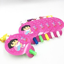 6pcs/bag Dora Blowout Party Supplies Favors/Girls Happy Birthday Decoration Baby Fovers Noise Maker