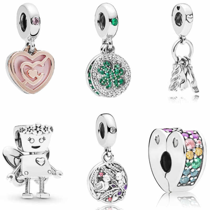 Fit Original Pandora Charms Silver 925 Bracelet Trinket Jewelry For Women Man Making 2019 New Infinite Shine Sweet Home Bead