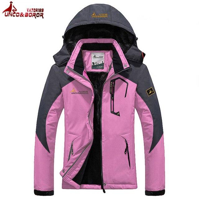 aba4145e12 BOROR Winter Waterproof Camping Hiking Jacket Women Outdoor Climbing Sports  Coat Women s Windbreaker Trekking Ski Jackets