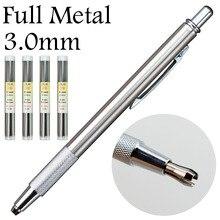 3,0 мм полностью металлические механические карандаши, свинцовый держатель, сталь, красный HB 2B, сменный стержень, офисные школьные принадлежности, не staedtler
