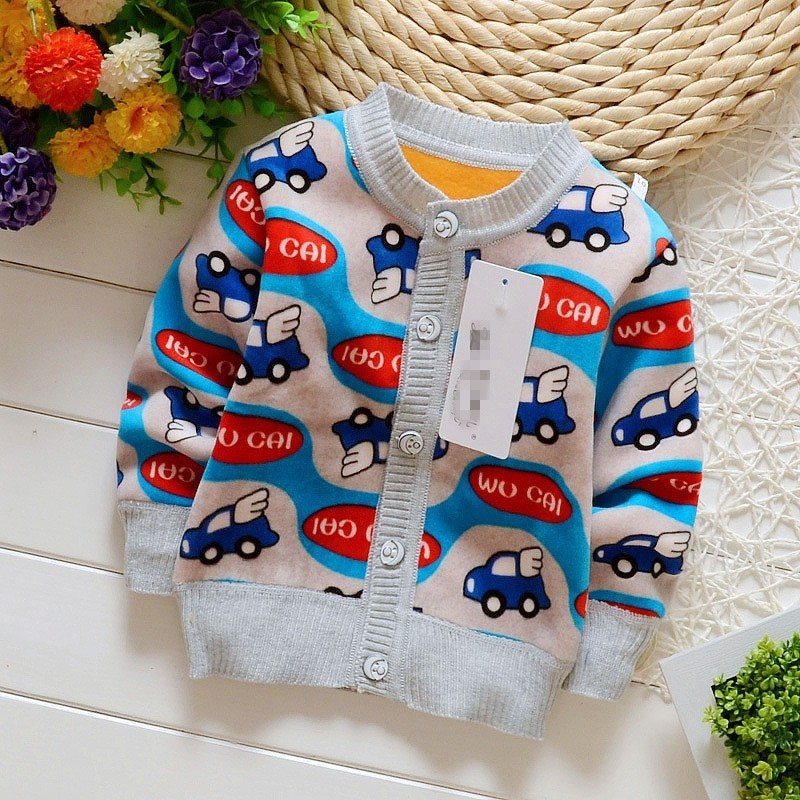 ... closer at d1120 c4f3d NYSRFZ baby girls boys autumnwinter wear warm fox  cartoon sweaters children pullovers ... a6c551841d2