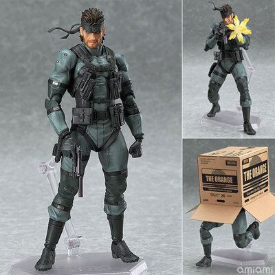 METAL GEAR SOLID 2: SONS OF LIBERTY Figma 243 Snake PVC Action Figure Collectible Model Toy