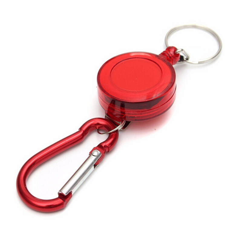 Retractable Pull Badge Reel ID Lanyard Name Tag Card Badge Holder Reels Zinc Alloy ABS Plastic Key Ring Chain Clips For Office