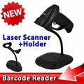 POS Handheld USB Laser Barcode Scanner Leitor de Código de Barras Arma com Cabo USB + Suporte Suporte para Android para o Windows XYL-901