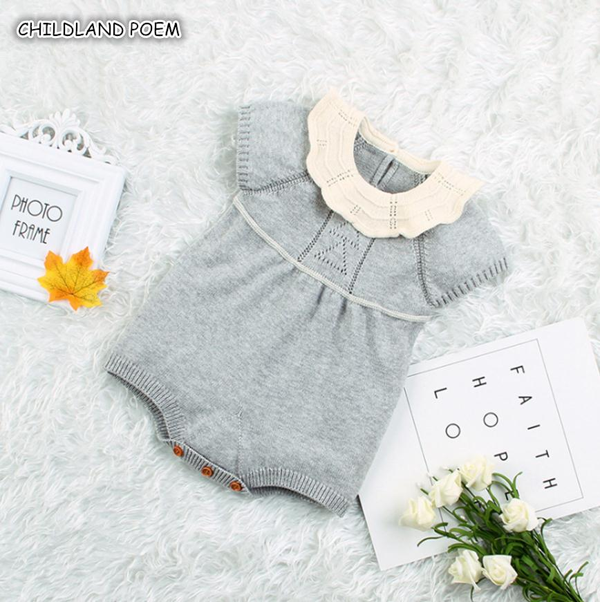 Knitted Baby Clothes Newborn Baby Girl   Romper   Cotton Infant   Rompers   For Boys Girls New Born Baby Jumpsuit Baby Boy   Romper
