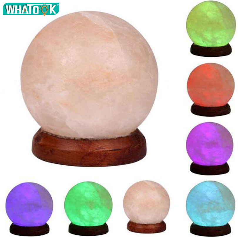 Healthy Color Change USB Night Light Natural Himalayan Air Purifier Rock Crystal Salt Lamp Glowing Attractive Nightlight DC5V