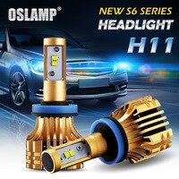 Oslamp S6 70W 7000lm H11 LED Car Headlights 6500K White Led SMD Chips 2pcs H8 Fog
