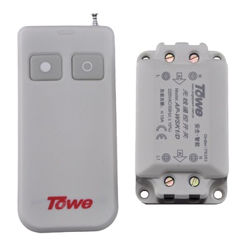 TOWE AP-WSK1/D wireless 220V one way Lamp Power through the wall remote control switch towe remote controller for ap wsk1 d 5 wireless 220v 10a five way remote control switch