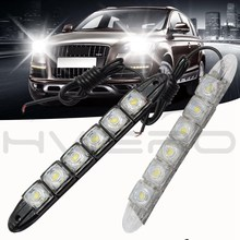 LED Daytime Running Light Flexible Led Strip DC 12V Universal Auto COB SMD with lens Fog Styling