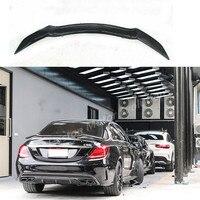 Роуэн Стиль углеродного волокна задний спойлер багажника крыло для Mercedes Benz w205 C205 w204 C63 AMG c250 c200