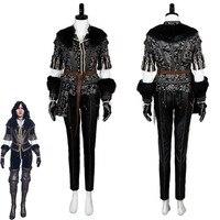 Ведьмак 3 Косплей Костюм Yennefer Дикая Охота косплей костюм наряд платье костюм униформа