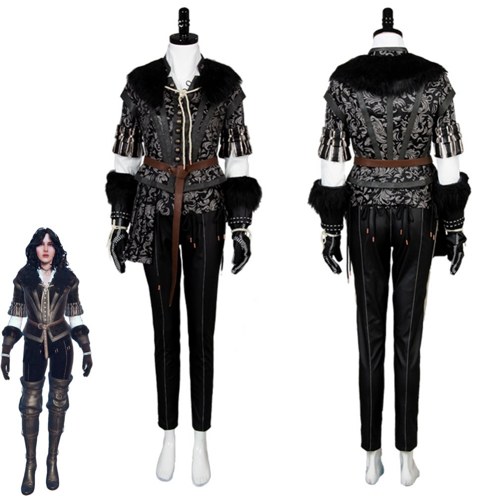 The Witcher 3 Cosplay Costume Yennefer sauvage chasse Cosplay Costume tenue robe Costume uniforme