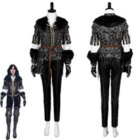 Yennefer Cosplay Costume Outfit Dress Suit Uniform