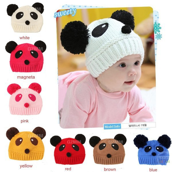 32d791ea6 Hot sale lovely animal panda baby hats and caps kids boy girl ...