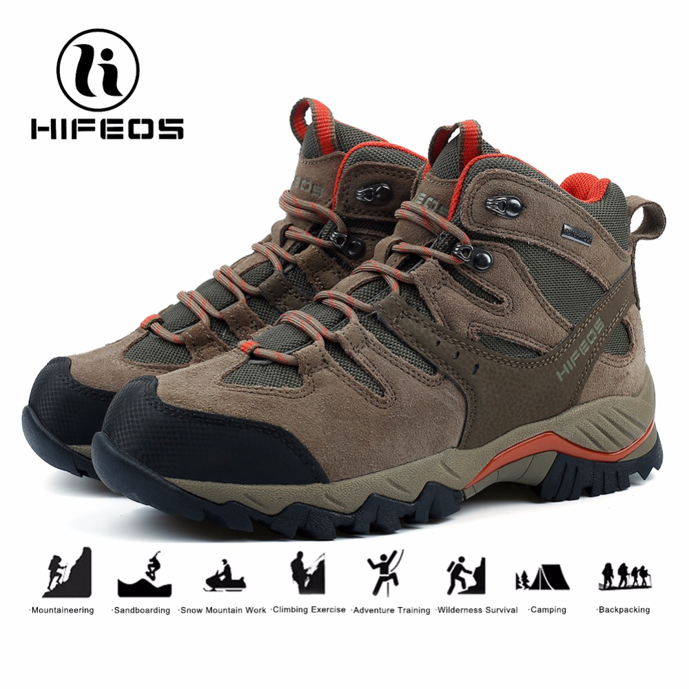 HIFEOS men tactical hiking boots breathable sneakers for mountaineer camping walk shoes winter waterproof outdoor climbing sport hifeos men winter outdoor hiking shoes couple anti slip breathable boots mesh couple climbing mountaineer low top sneakers m067
