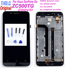 Starde LCD for Asus ZenFone Go ZC500TG Z00VD 5.0'' LCD Display Touch Screen Digitizer Assembly with Frame Black +Free Tools цена