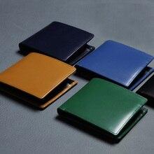 LANSPACE genuine leather men wallets designer purse famous brand male wallet