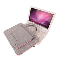 2016 New Felt Universal Laptop Bag Notebook Case Briefcase Handlbag Pouch For Macbook Air Pro 11