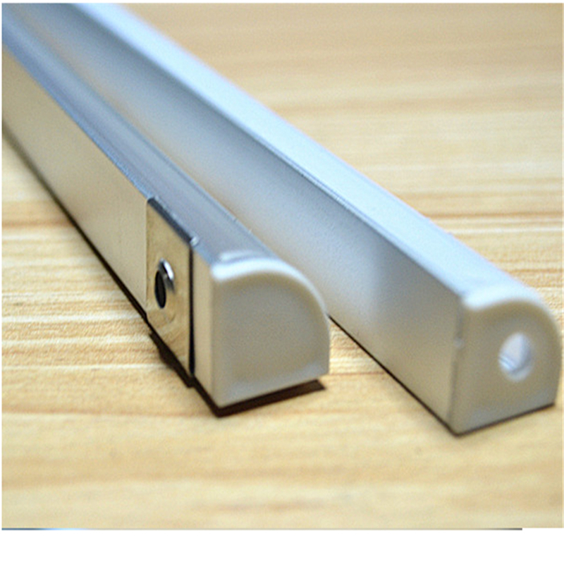20-80m ,10-40pcs 2meters  aluminium profile,45degree corner led aluminium profile for 10mm PCB board ,semi round  led bar light 10 40pcs lot 80 inch 2m 90 degree corner aluminum profile for led hard strip milky transparent cover for 12mm pcb led bar light