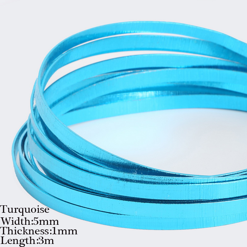 3m 5x1mm Embossing Flat Aluminum Wire Soft Floristry Metal Wire Soft ...