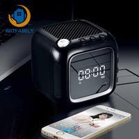 Portable Table Clock Wireless Bluetooth LED Mini Digital Alarm Clock Speaker with FM Radio LCD Mirror Display Snooze function