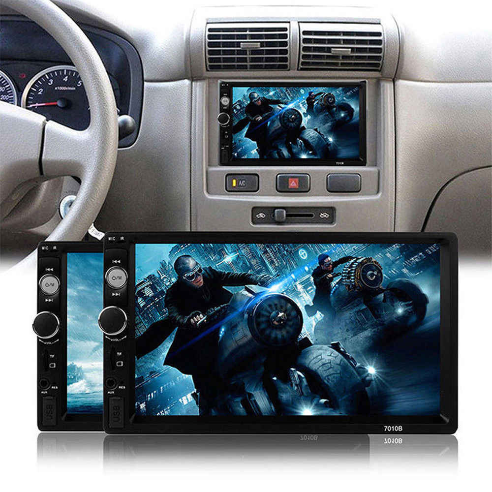 "Mobil Radio 2 DIN 7 ""Bluetooth Stereo Multimedia Player Autoradio MP3 MP5 Layar Sentuh Auto Radio Mendukung Rear View kamera"