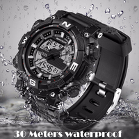 SANDA 2017 Men Watches Men S Quartz Hour Analog Digital LED Sports Watch Men Army Military