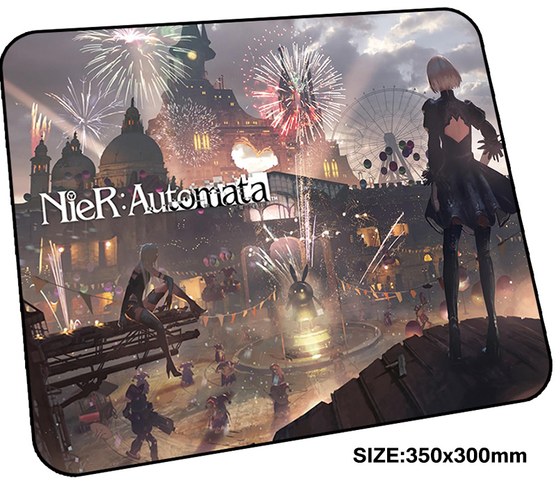 NieR Automata mousepad gamer 350x300x3mm gaming mouse pad Aestheticism notebook pc accessories padmouse Cartoon ergonomic mat