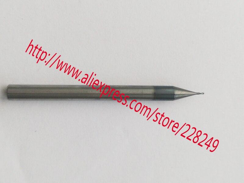 2pcs 0.3mm hrc55 D0.3 * D4 * 50 2 Flutes Micro Grain Spiral Mill Mill Tools Carbide CNC Endmill روتر بیت
