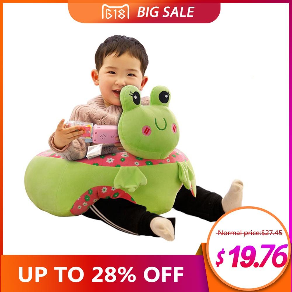Colorful Baby Learning Sitting Seat Newest Baby Cartoon Seats Sofa Plush Support Seat Learning To Sit Baby Plush Toys For 0-3M