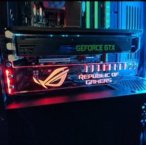 Image 3 - Soporte de tarjeta gráfica de prevención de distorsión símbolo de fe soporte acrílico soporte GPU blanco, rojo, verde, azul, RGB Color Drop Shipping