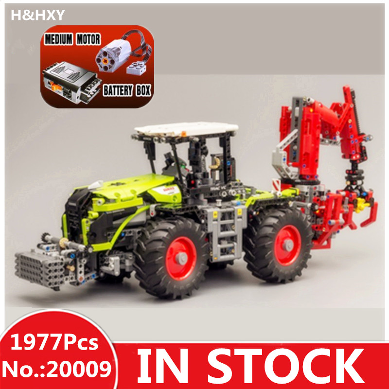 IN STOCK H&HXY 20009 1977pcs technic series The tractor LEPIN Model Building blocks Bricks Compatible Toy 42054 lepin 20009 1977pcs technic series the tractor model building blocks bricks compatible with 42054 boy s favourite