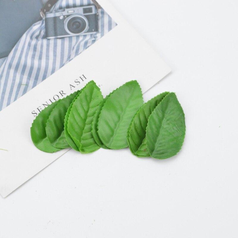 200pcs Cheap Artificial Leaves Fake Plants Home Decoration Accessories Decorative Flowers Diy Christmas Wreath Silk Roses Leaf