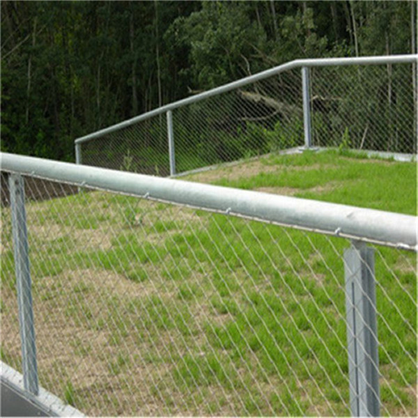 304 316 stainless steel hand made wire rope mesh/ rope mesh fence on ...
