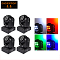 4PCS/Lot New Arrive Compact Unlimited Rotating Led Moving Head Light Double Faces 8*10W RGBW Mini Moving Head Beam Light DMX 512