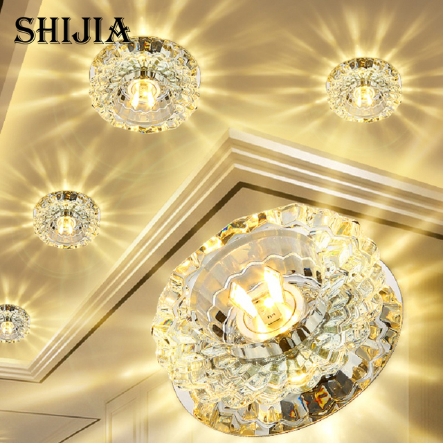 flush mount small led ceiling light for art gallery decoration front