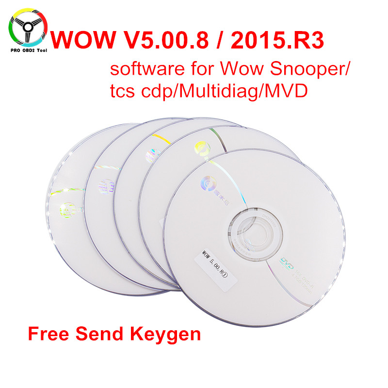 Newly Wow Snooper Software V5.00.8 R2 V5.00.12 or 2015 R3+ Keygen For New VCI TCS CDP Pro Multidiag MVDIAG Free Activate