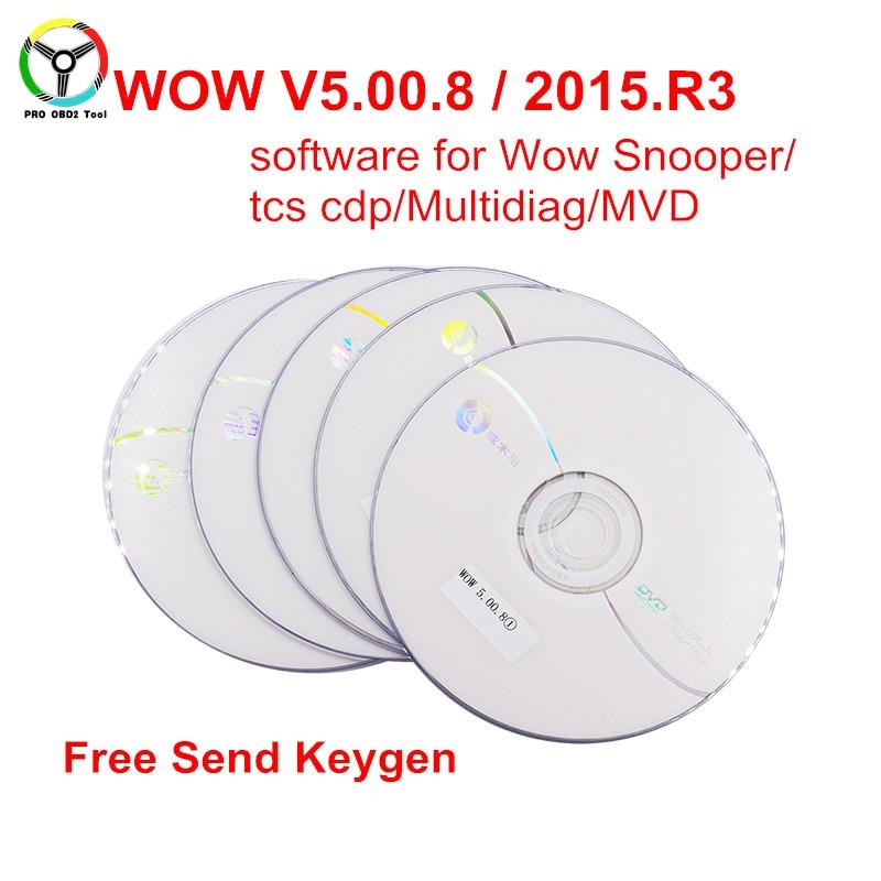 Nouvellement Wow Snooper Logiciel V5.00.8 R2 V5.00.12 ou 2015 R3 + Keygen Pour Nouveau VCI TCS CDP Pro Multidiag MVDIAG Livraison activer
