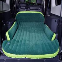 FUWAYDA Big Size Moonet Dark Green SUV Car Cushion Auto Air Matting Flocked Air Bed Inflatable for Road Trip,Travel, Camping