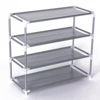 Best 4 Layers removable door shoe storage cabinet shelf DIY shoes storage