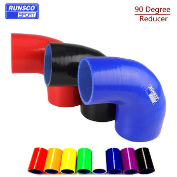 90 degrees Reducer Silicone Elbow Hose Rubber Joiner Bend Tube for BMW Toyota Cold Air Intake Hose image
