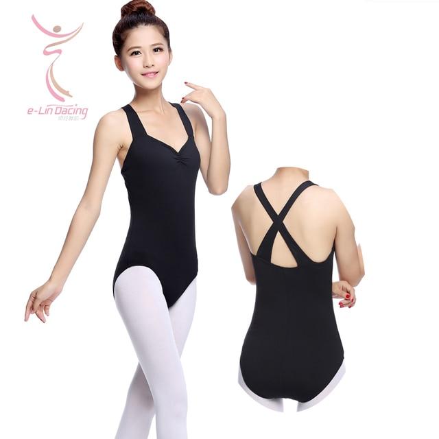 c8509e1c6 Adult Thick Strap Back Cross Princess Dance Leotards Female Ballet ...