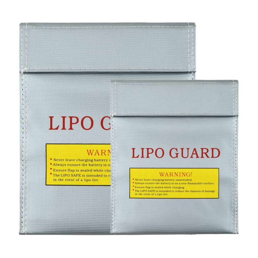 RC LiPo Li-Po Battery Fireproof Safety Guard Safe Bag Charging Sack Battery Safety Protective Bag Safe Guard Silver